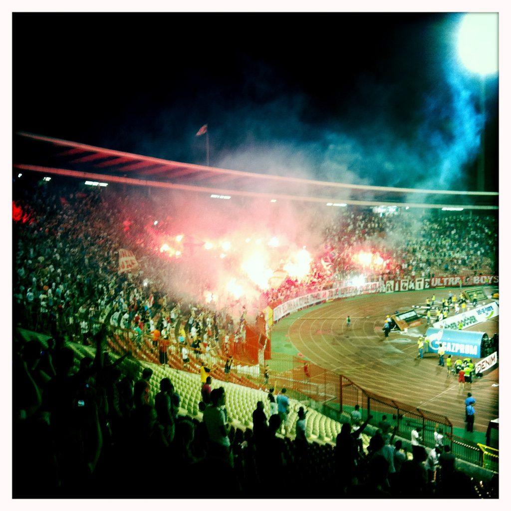 Die Fans von Roter Stern Belgrad