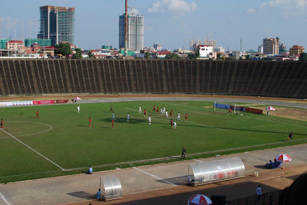Das Stadion in Phnom Penh