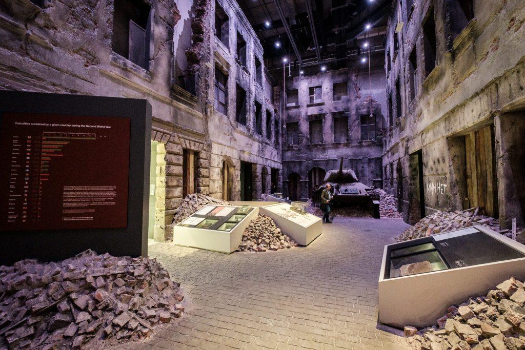 Im Museum des Zweiten Weltkriegs.