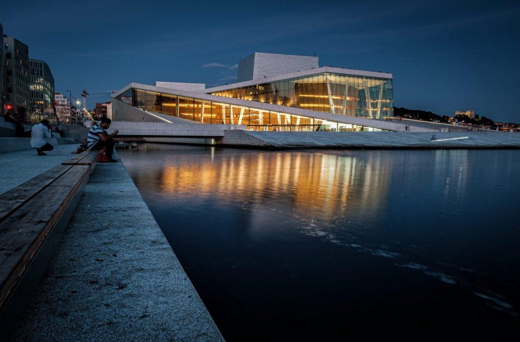 Das Wahrzeichen von Oslo: Die Oper.