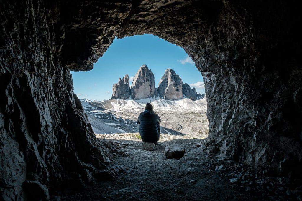 Drei Zinnen in dem Dolomiten