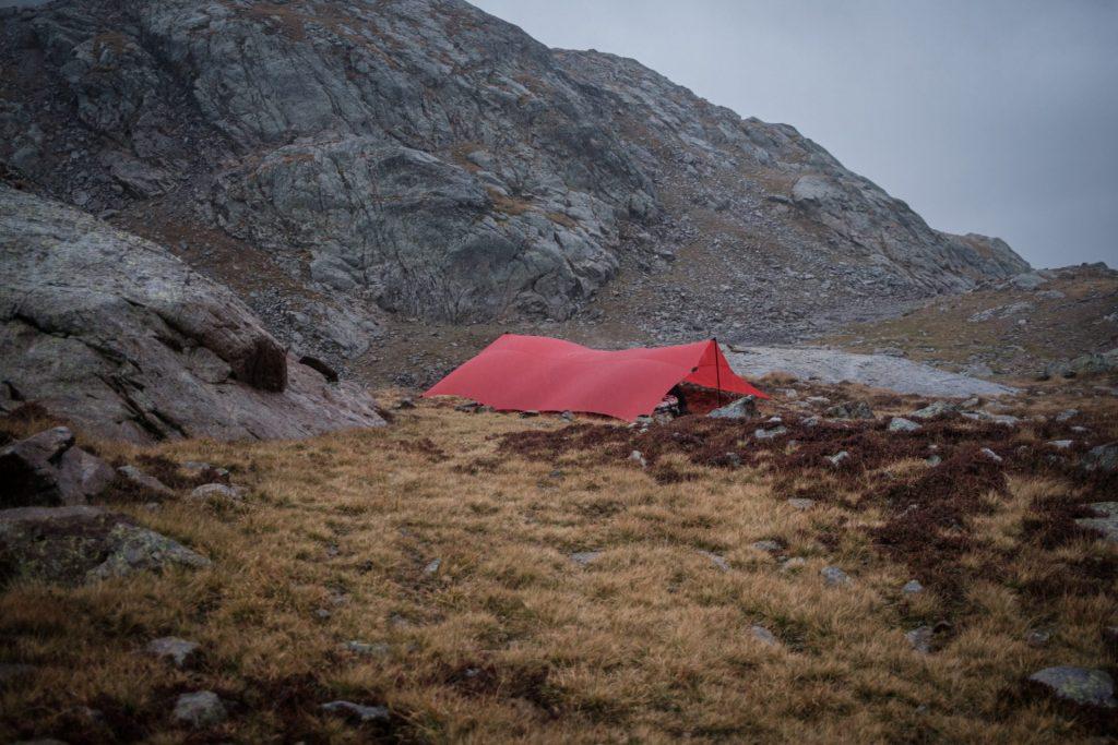 Das Camp unter der Paßhöhe.