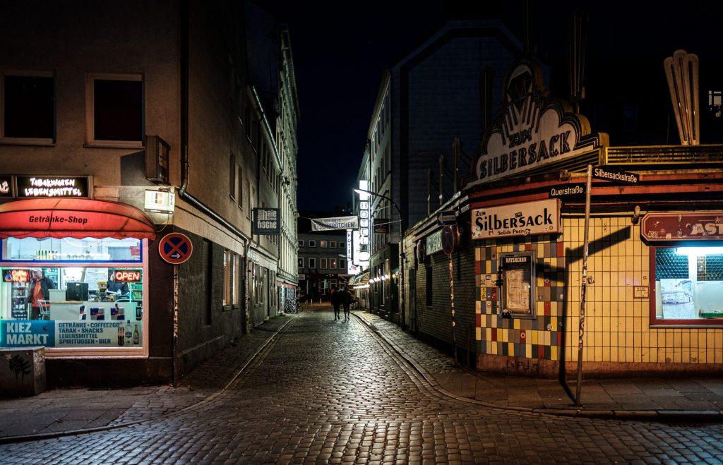 Hamburg Silbersack und Umgebung, Samstag Abend, 21:03 Uhr, im April 2020