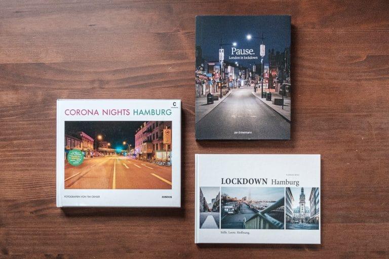 Eine Auswahl von drei Corona Bildbänden