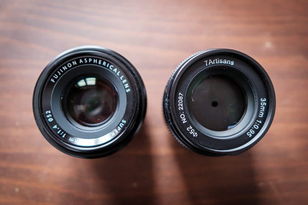 Das 7artisans 35mm F0.95 oder Fuji X 35mm F1.4?