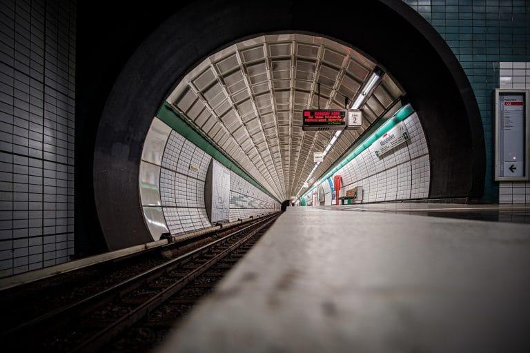 U Bahn Station Messehallen