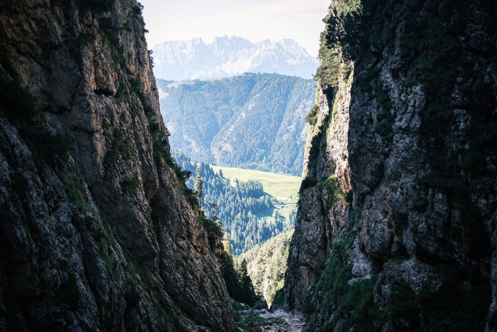 Die Bärenfalle - der Aufstieg zum Schlern.