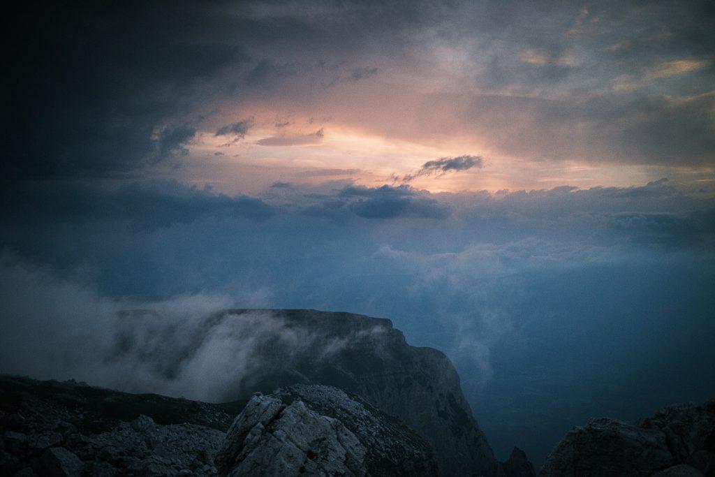Auf dem Monte Petz schaut dann mal kurz die Sonne raus.