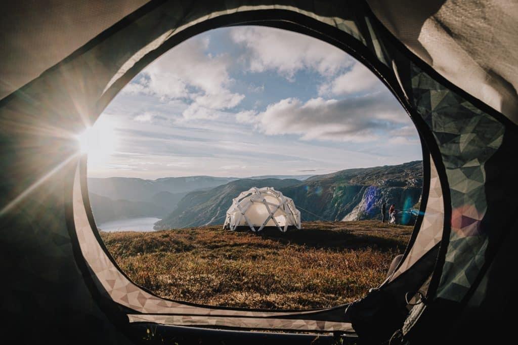 Der Blick aus dem Zelt ... unbezahlbar.